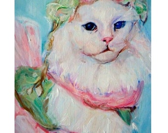 Custom Cat Painting: Original Painting, Custom Made Cat art, commission your own pet portrait