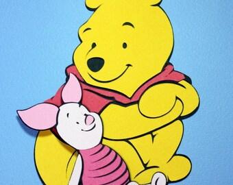 Pooh and Piglet die cut