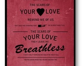 Rolling in the Deep / Adele / Lyric / DIGITAL Typography Poster
