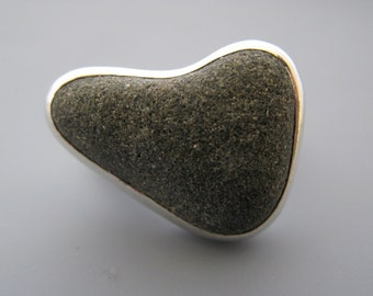 beach rock ring - sterling silver