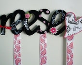 Personalized Wood Hair Bow Holder- UP TO 6 LETTERS