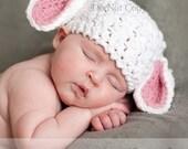 Crochet PATTERN Lovable Lamb Crochet Animal Hat Pattern Includes 4 sizes  - Preemie to 3 Years