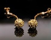 24K Gold Earrings Pine-Ball