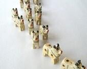 wooden oxen beads - ten (10) oxen