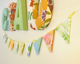 S A L E  Vintage Fabric Flag Bunting Banner Flag Pillow Factory