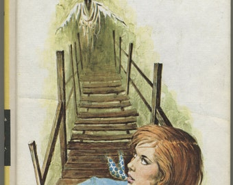 1970s Nancy Drew The Haunted Bridge, Vintage Mystery Book, Girl Detective Series
