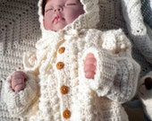 Crocheted Baby Irish Knit Sweater Hat Newborns Infants Custom Order Only