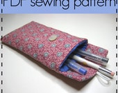 Pencil Case, Glasses Case, Padded Case, Gadget Pouch Sewing Pattern - Easy, Beginners Pattern - D.I.Y