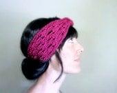 INSTANT DOWNLOAD Crochet PATTERN Lace Headwrap pdf turban ear warmer head wrap for her