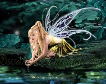 IL Usiva Luminae by Susan Schroder - Mythic Fantasy Fairy Art Print