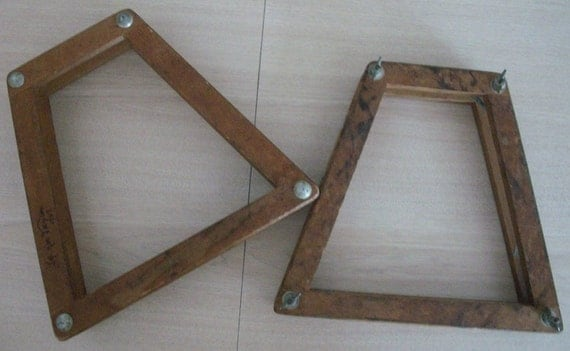 CLEARANCE Set of Two 1937 Vintage Tennis Racket Wood Presses- Inscribed Jackie Taylor