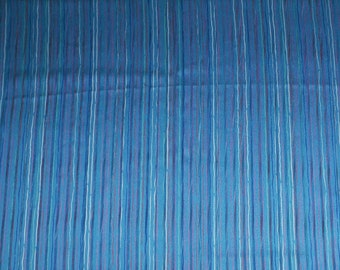Vintage Sheer Turquoise Nylon Polyester Fabric - By the Yard