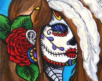SALE Dia de los Muertos Painting