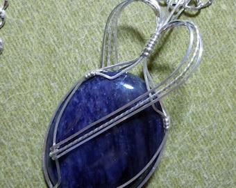 Deep Rich Blue Sodalite in Sterling Silver