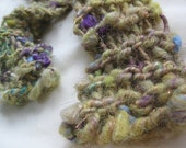 Twisted Chartreuse - Handspun, handknit scarf
