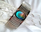 Dichroic Glass Bracelet/ Cuff Bracelet/ Fused Glass Bracelet/ Muti Colored Bracelet