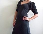 Long Sleeve Grey  Dress-  Grey 'Dida' winter dress