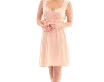 Bridesmaid dress ON SALE/ Peach bridesmaid dress/ Bridesmaid tunic dress/ Women bridesmaid dresses/ Summer bridesmaid dress