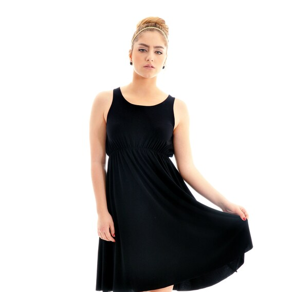 Maternity dress - Classic 'Rainbow' black  dress