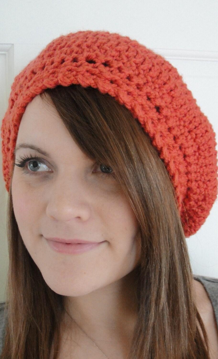 SLOUCHY Hat Crochet Pattern Beret