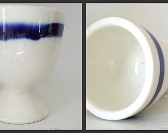 Vintage Flow Blue China Collectible Egg Cup