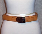 Vintage 1980's Christian Dior Butterscotch Belt