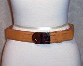 Vintage 1980's Christian Dior Butterscotch Belt