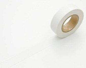 White Washi Tape Solid White Japanese