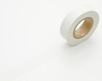 Japanese white Washi Tape - Solid White