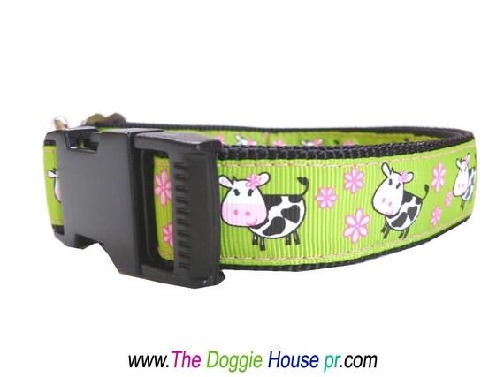 Dog Collar - Happy Cows - Custom Order for Bethany Allen