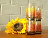 orange and yellow glasses vintage juice set - 0811002