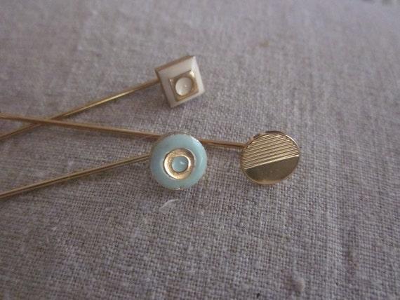 BROOCH STICK HAT Pins Set of Three Jewelry Pins