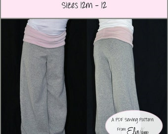 The Little Lady Lounge Pants Pattern