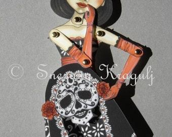 Katrina-Dia De Los Muertos Paper Doll