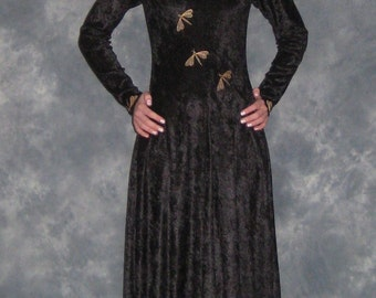 Gabriella, an Elven, Medieval, Faery  Wedding Dress Embroidered with Dragonflies