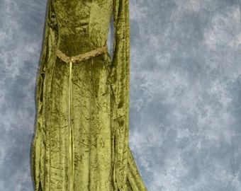 Cordelia, a Celtic Inspired Medieval, Pre- Raphaelite,Renaissance Gown with Celtic Embroidery