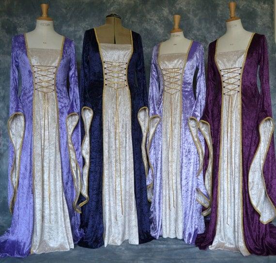 Rosina, a Medieval, Pagan Custom Made Wedding or Handfasting Dress