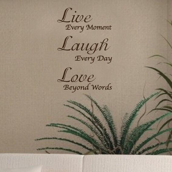 Wall Decal Vinyl Sticker Live Laugh Love Word Art Lettering Bluestreak Decals