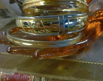 goldtone bracelet short stack