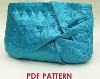 Clutch Purse PDF Sewing Pattern Download  Twist Detail
