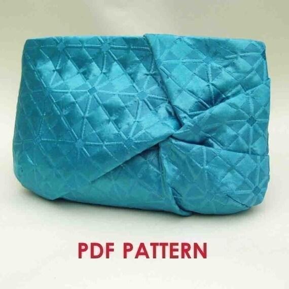 Clutch Purse PDF Sewing Pattern Download  Twist Detail