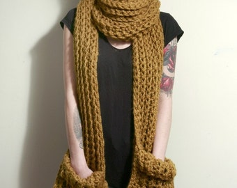 SALE -The Tarrytown Pocket Super Scarf in Mustard Yellow