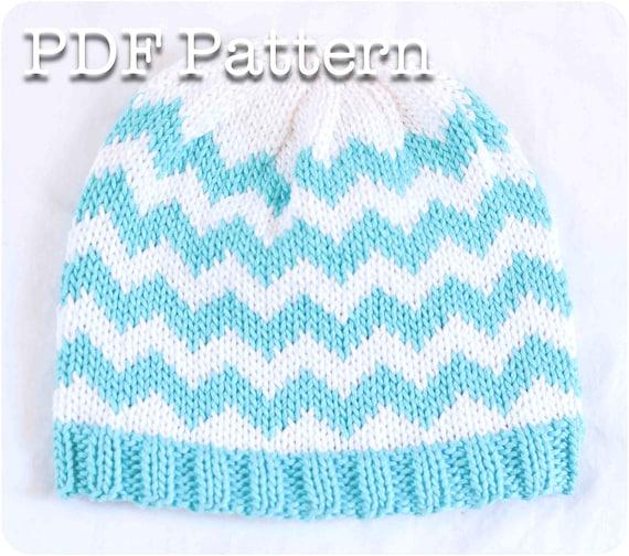 Knit Chevron Baby Hat Pattern