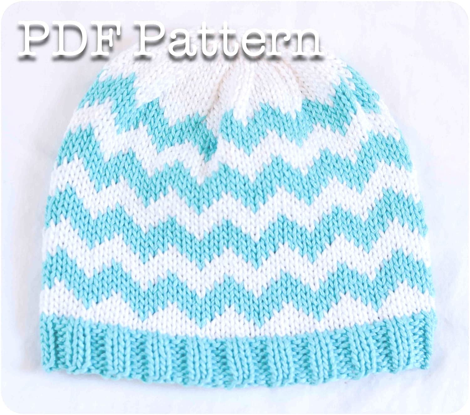 Knit Chevron Baby Hat Pattern