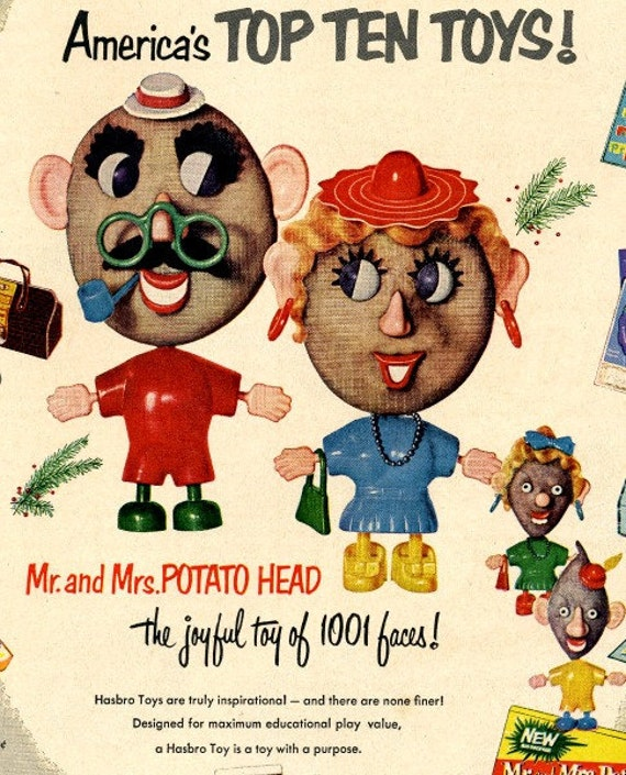 Toys From 1953 : Vintage potato head toys advertisement