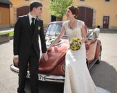Lace Wedding Dress with Cap Sleeves