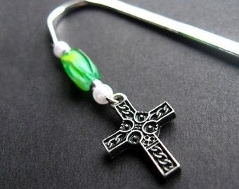 Handmade Beaded Book Charm - Verdant Faith. Handmade.
