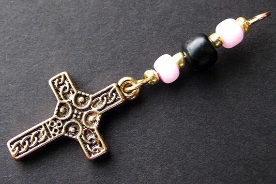 Christian Wallet Charm, Zipper Pull, Beaded Keychain - Hope. Handmade.