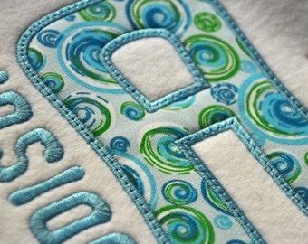 Jolly Applique Font - 5 Sizes Machine Embroidery Alphabet