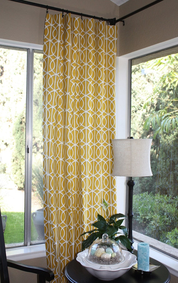 Items Similar To Modern Curtains Bella Porte Citrine Set
